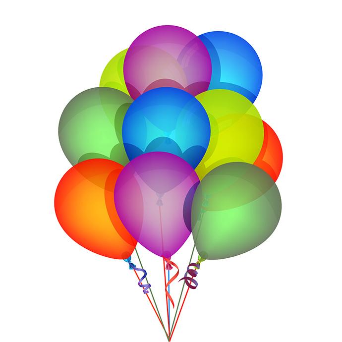 690x690 Birthday Balloons Clip Art