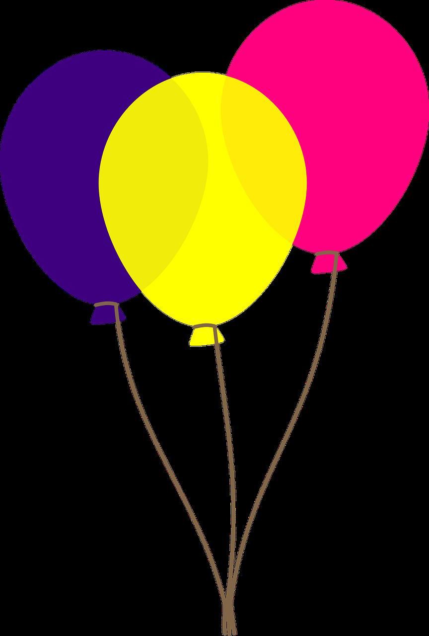 864x1280 Free Birthday Balloons Clipart 6