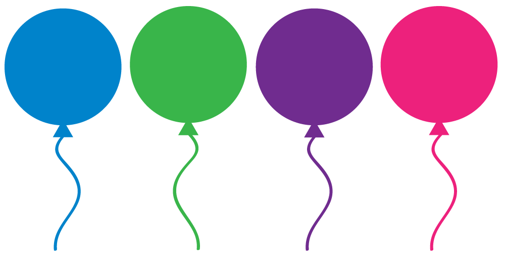 1000x507 4 Colored Balloons Clipart Clipart Panda