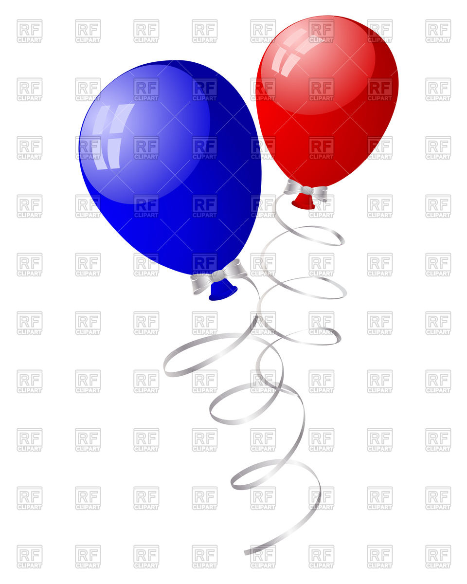 960x1200 Blue And Red Balloons In The Air Royalty Free Vector Clip Art