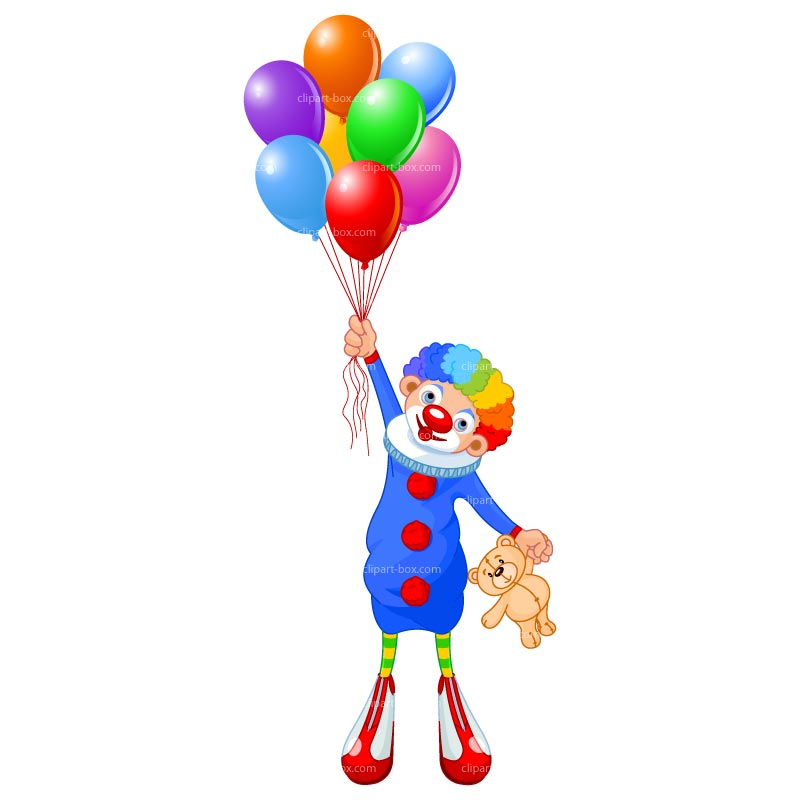 800x800 Clipart Clown With Balloon Free Vector Design Clipart