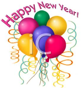 275x300 Clipart Of Happy New Year Balloons