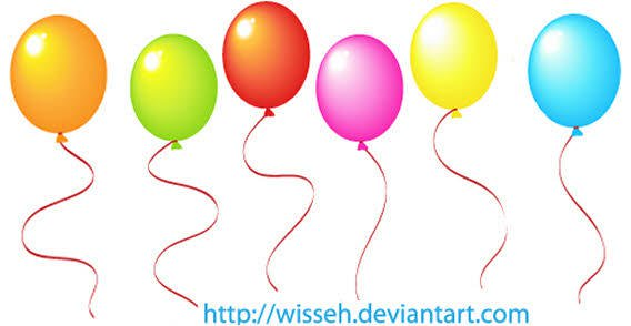 568x294 Color Balloons Free Vector 123freevectors