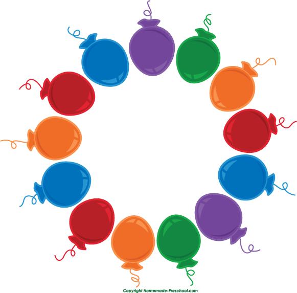 581x573 Free Birthday Balloon Clip Art Clipart Panda