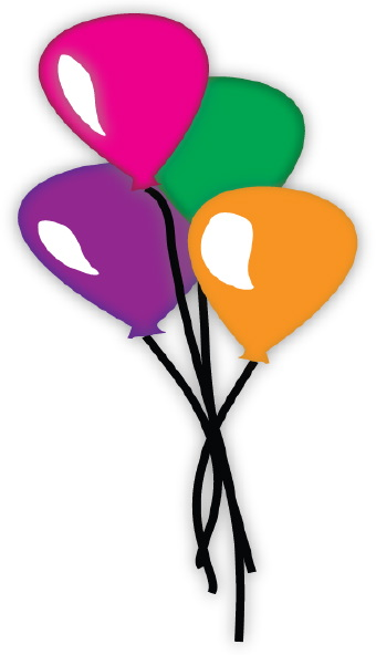 340x592 Free Birthday Balloons Clipart Image