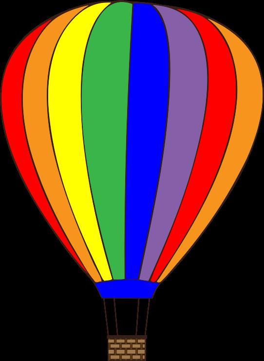 542x740 Free Clipart Hot Air Balloons