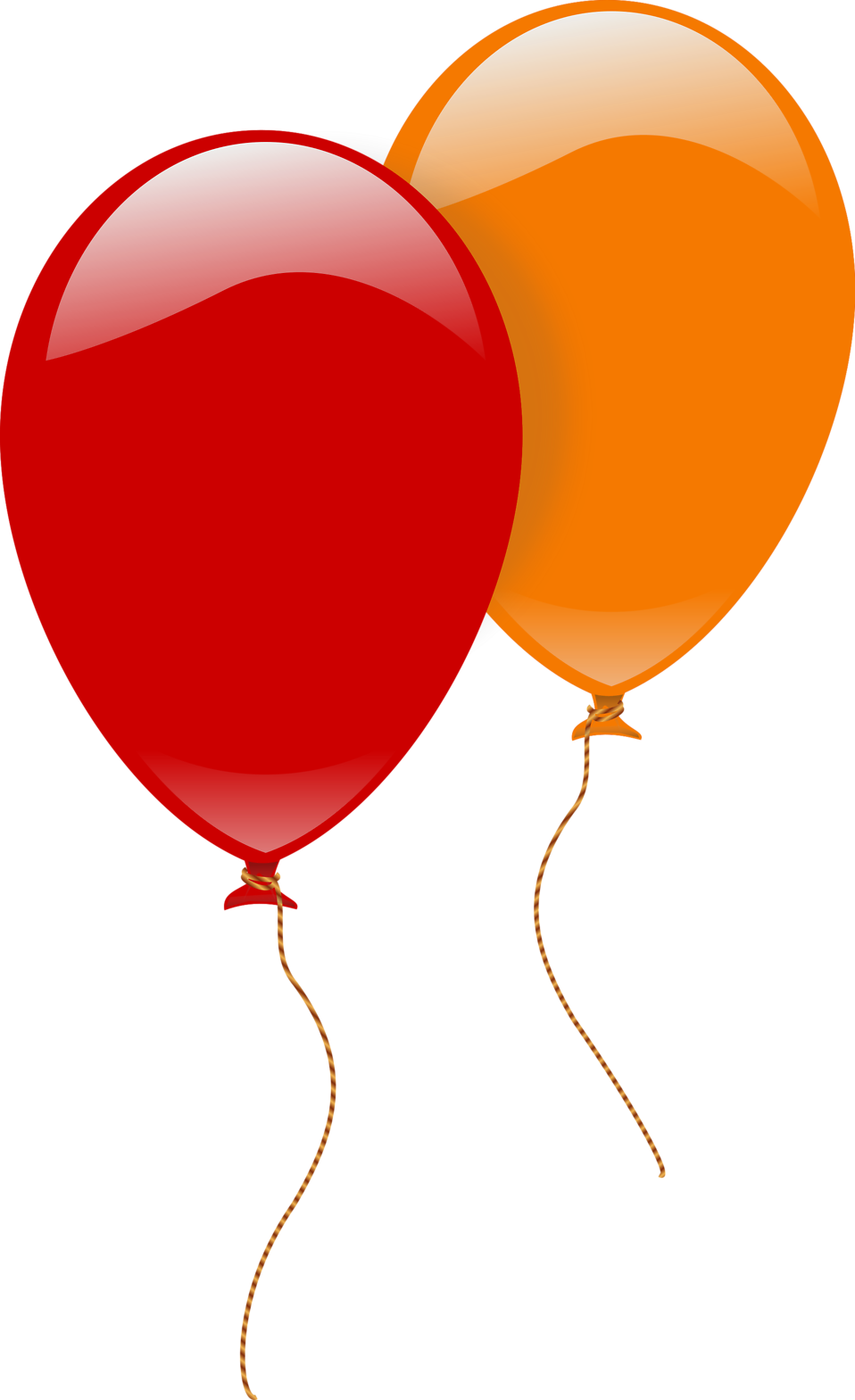 958x1569 Balloons Free Stock Photo Illustration Of A Red And An Orange