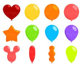 340x270 Balloons Clipart Etsy