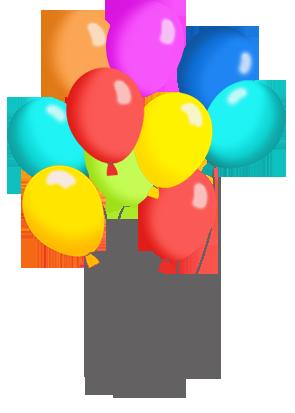 295x413 Birthday Balloons Clipart