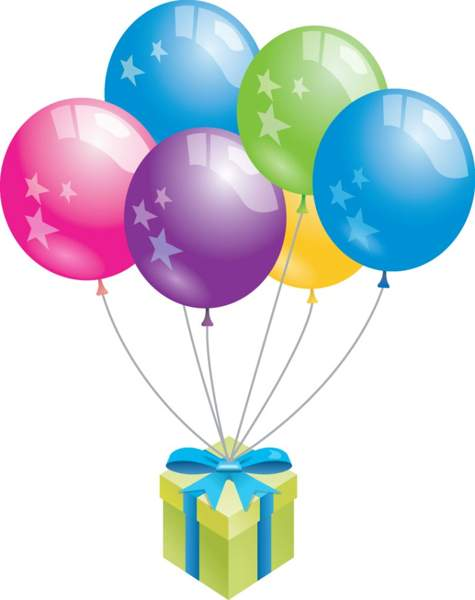 475x600 Birthday Balloons Clipart