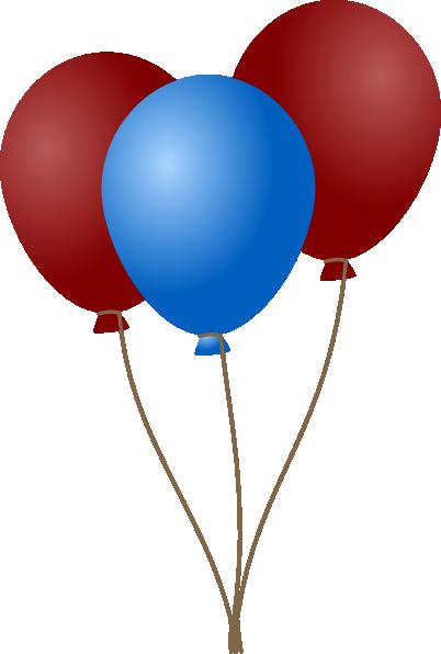 402x596 Blue Balloons Clipart