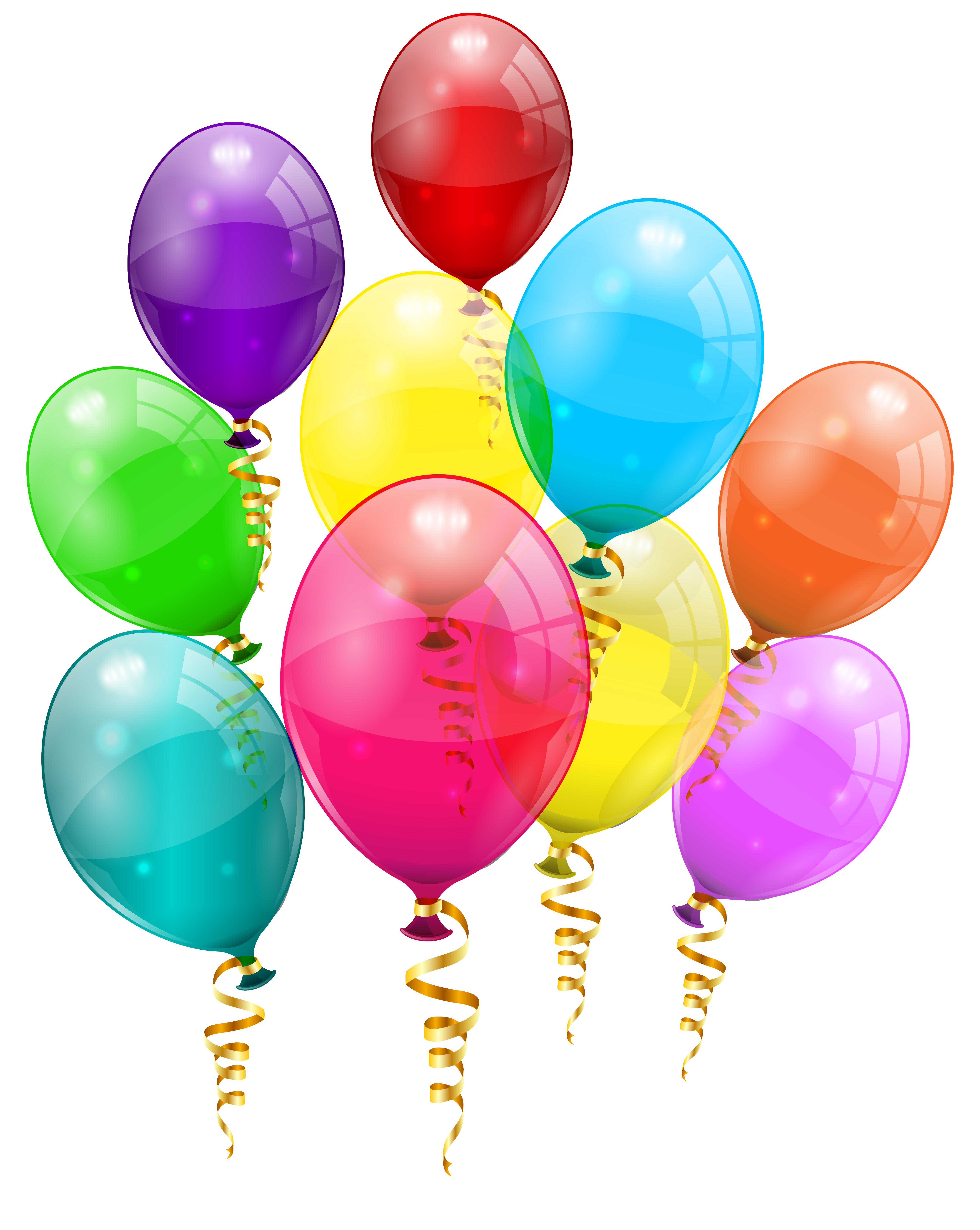 5189x6511 Bunch Of Colorful Balloons Png Clipart Imageu200b Gallery