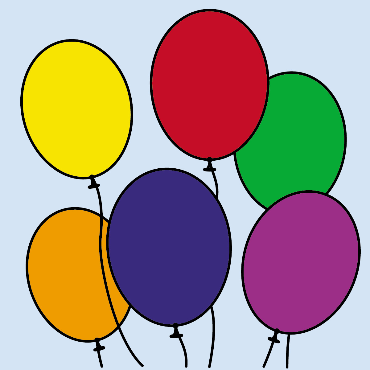 1200x1200 Colorful Balloon Clipart