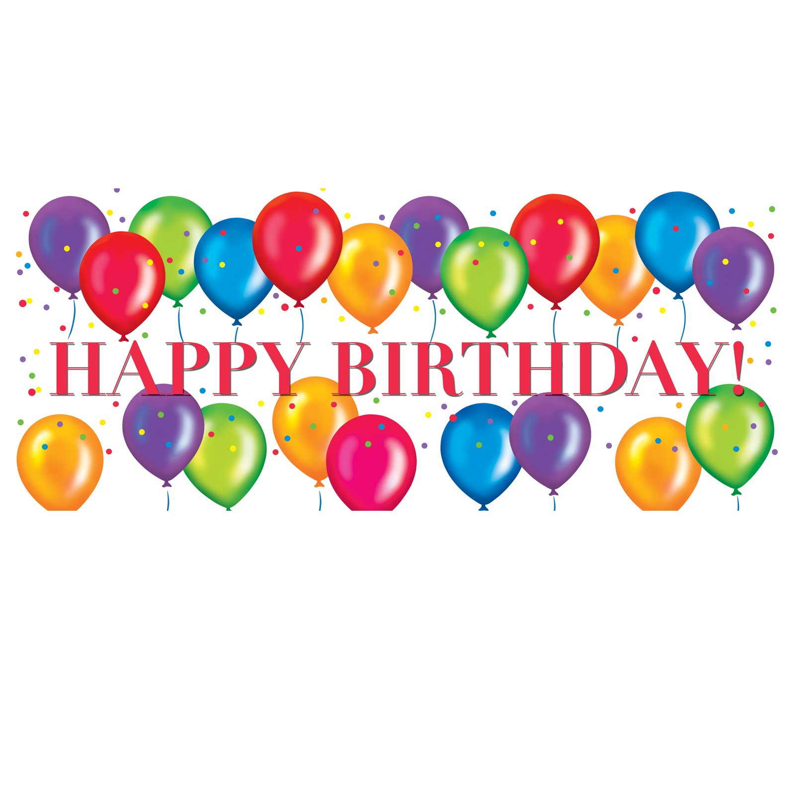 1600x1600 Free Birthday Balloons Clipart Image