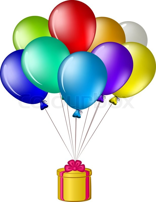 618x800 Gifts Balloons Clipart