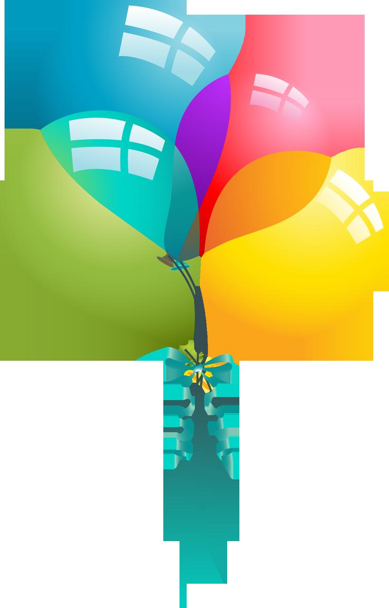 767x1200 Happy Birthday Balloons Clipart