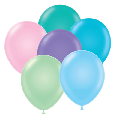 400x400 Pastel Balloons Clipart
