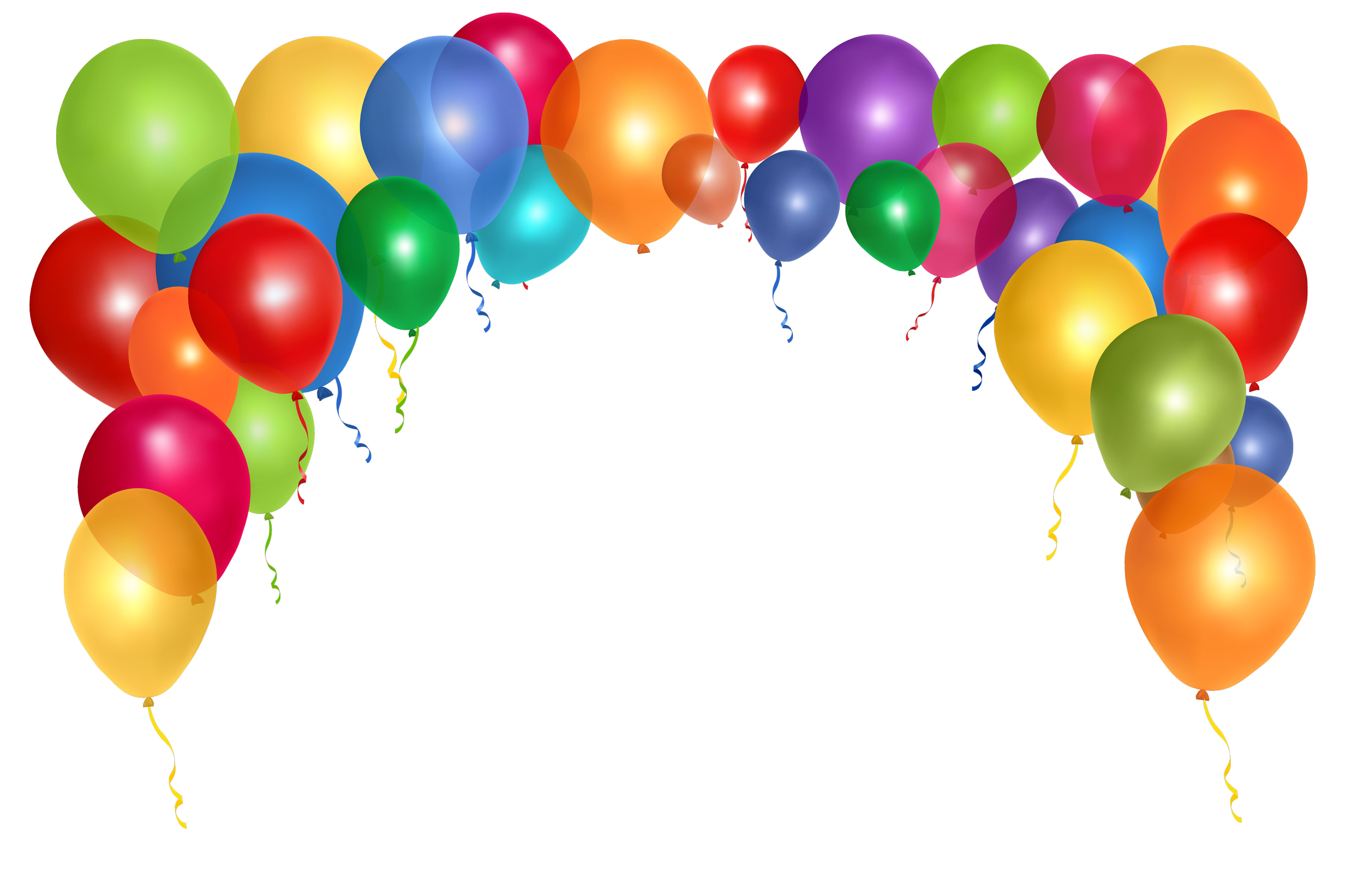 2500x1644 Balloons Png Images Transparent Free Download