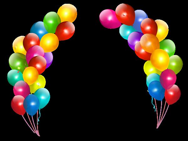 600x449 Colorful Balloons Decor Transparent Png Clipart Border Paper