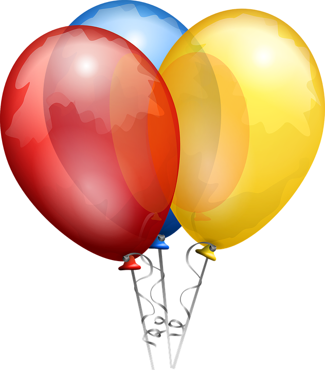 632x720 Free Photo Balloons Yellow Blue Helium Shiny Red Bunch