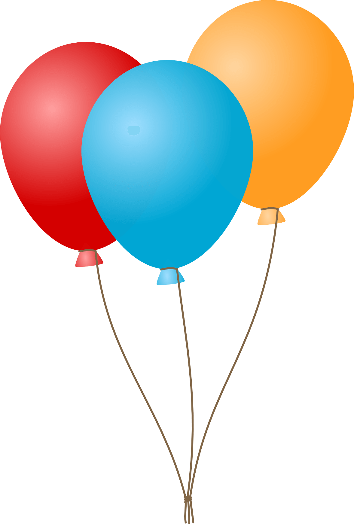 1178x1744 Three Flat Balloons Transparent Png