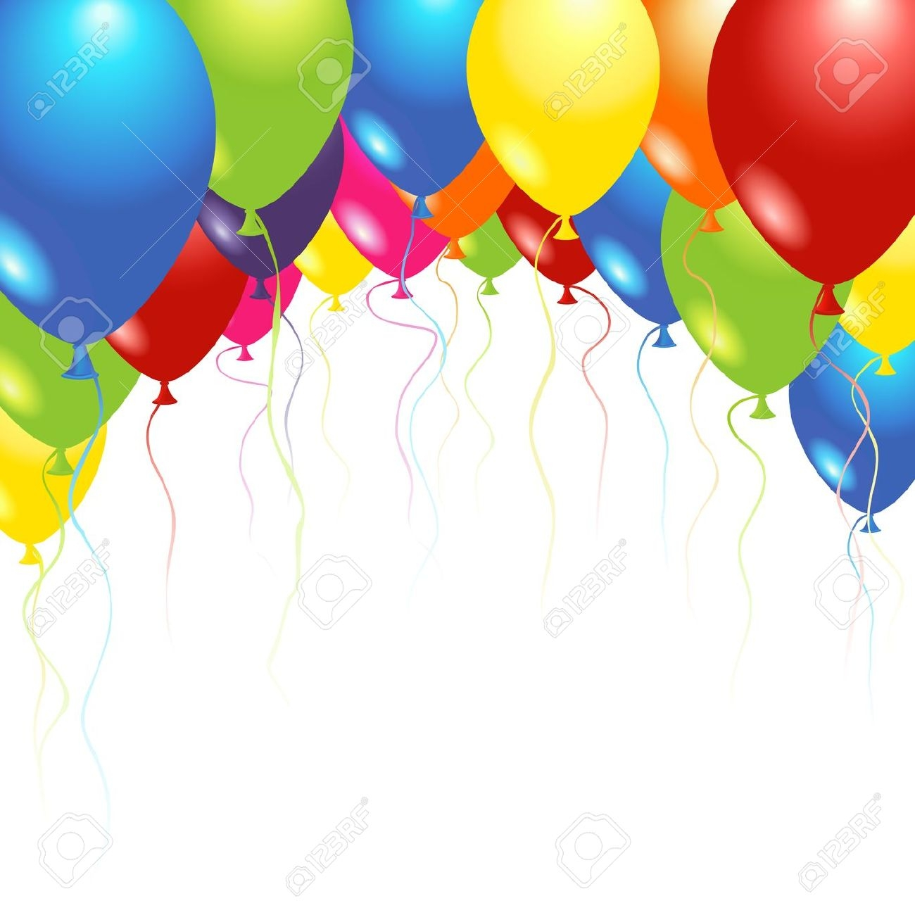 1300x1300 Balloons Clipart Birthday Pictures Background