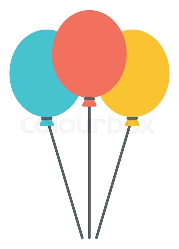 576x800 Birthday Balloons Transparent Background, Pc Birthday Balloons