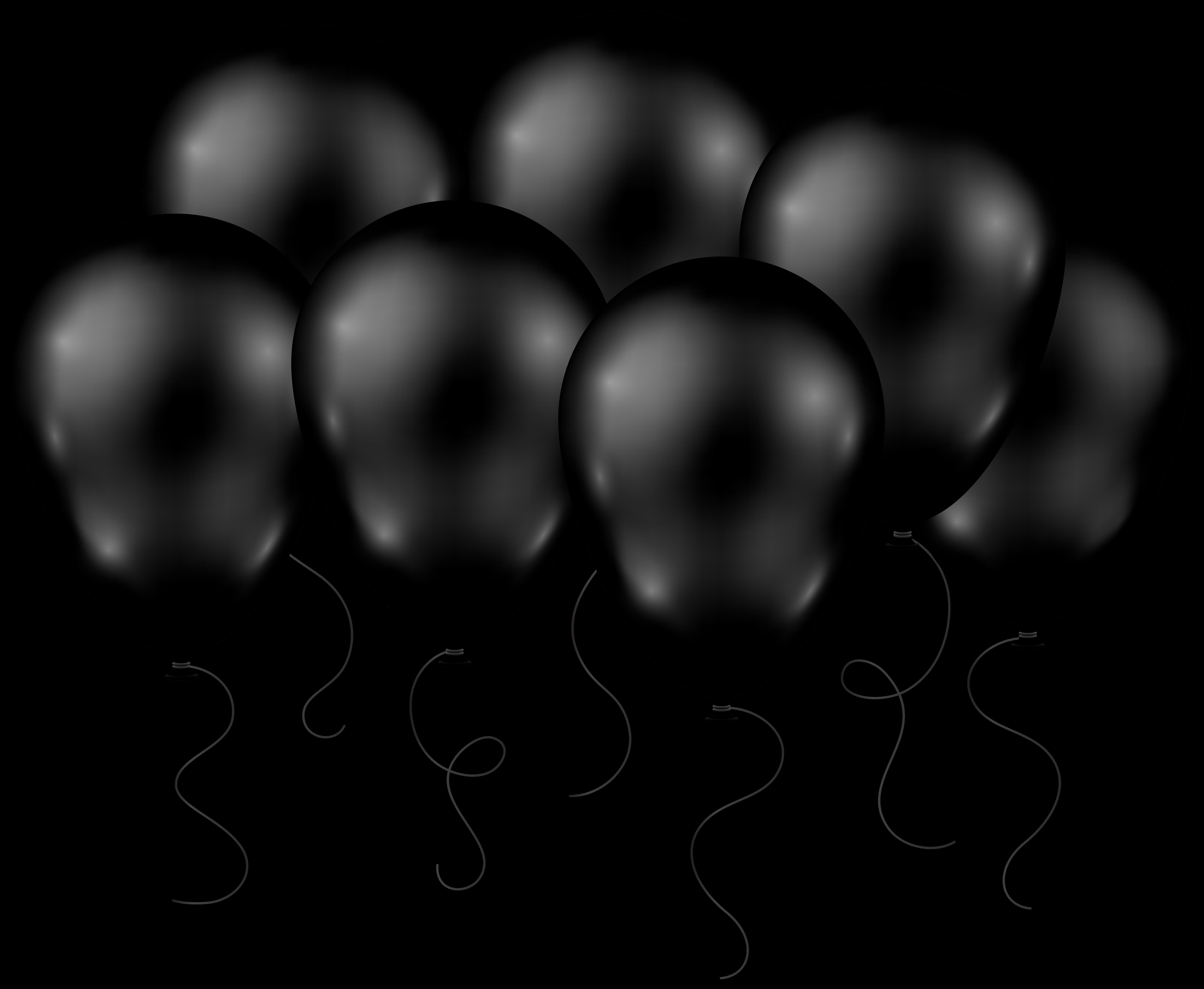 8000x6571 Black Balloons Cliparts