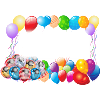 400x400 Colourful Balloons Transparent Png