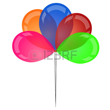 450x450 Abstract Sunny Background With Color Balloons Royalty Free
