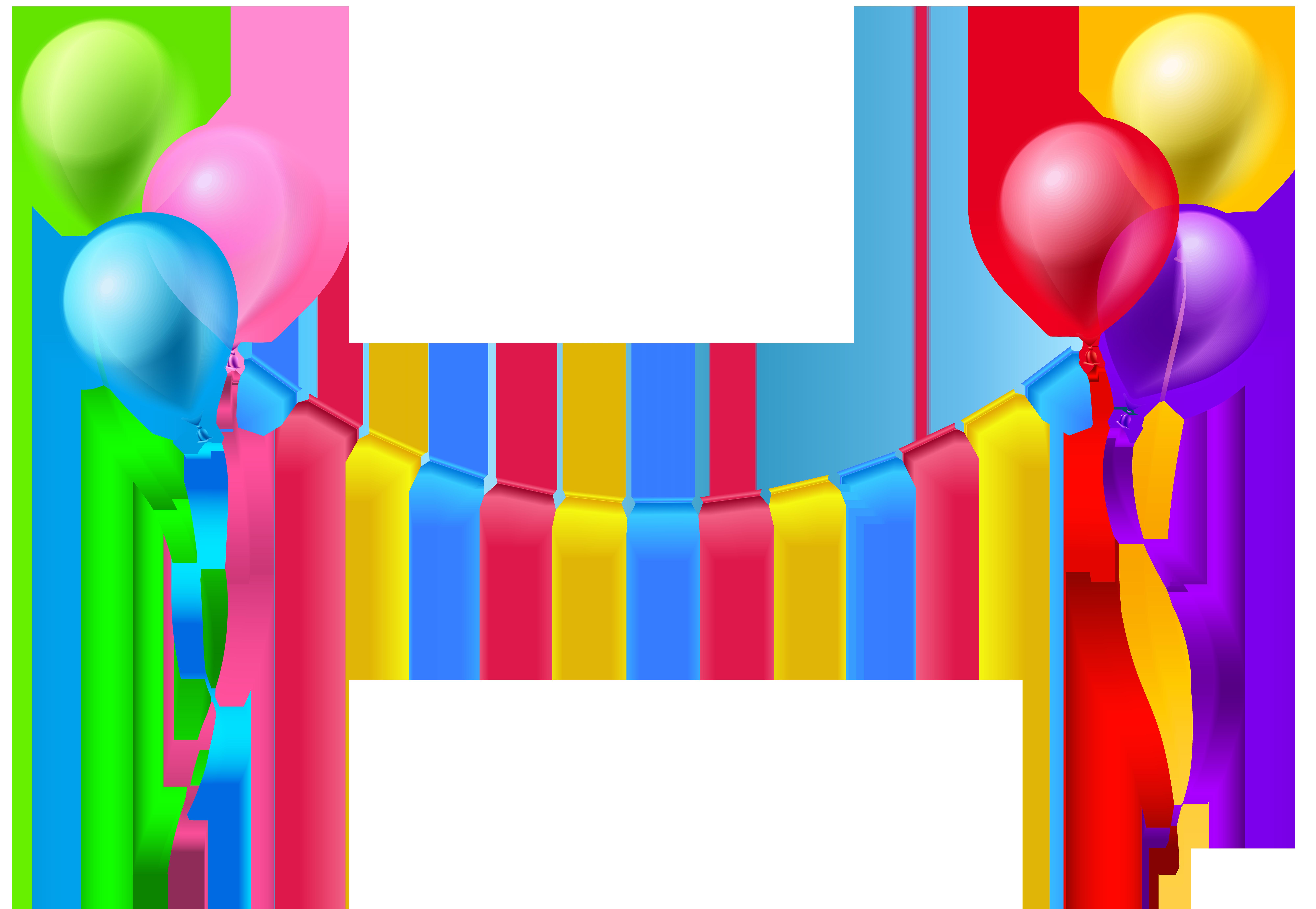 8000x5527 Happy Birthday Balloon Background Png, Pc Happy Birthday Balloon