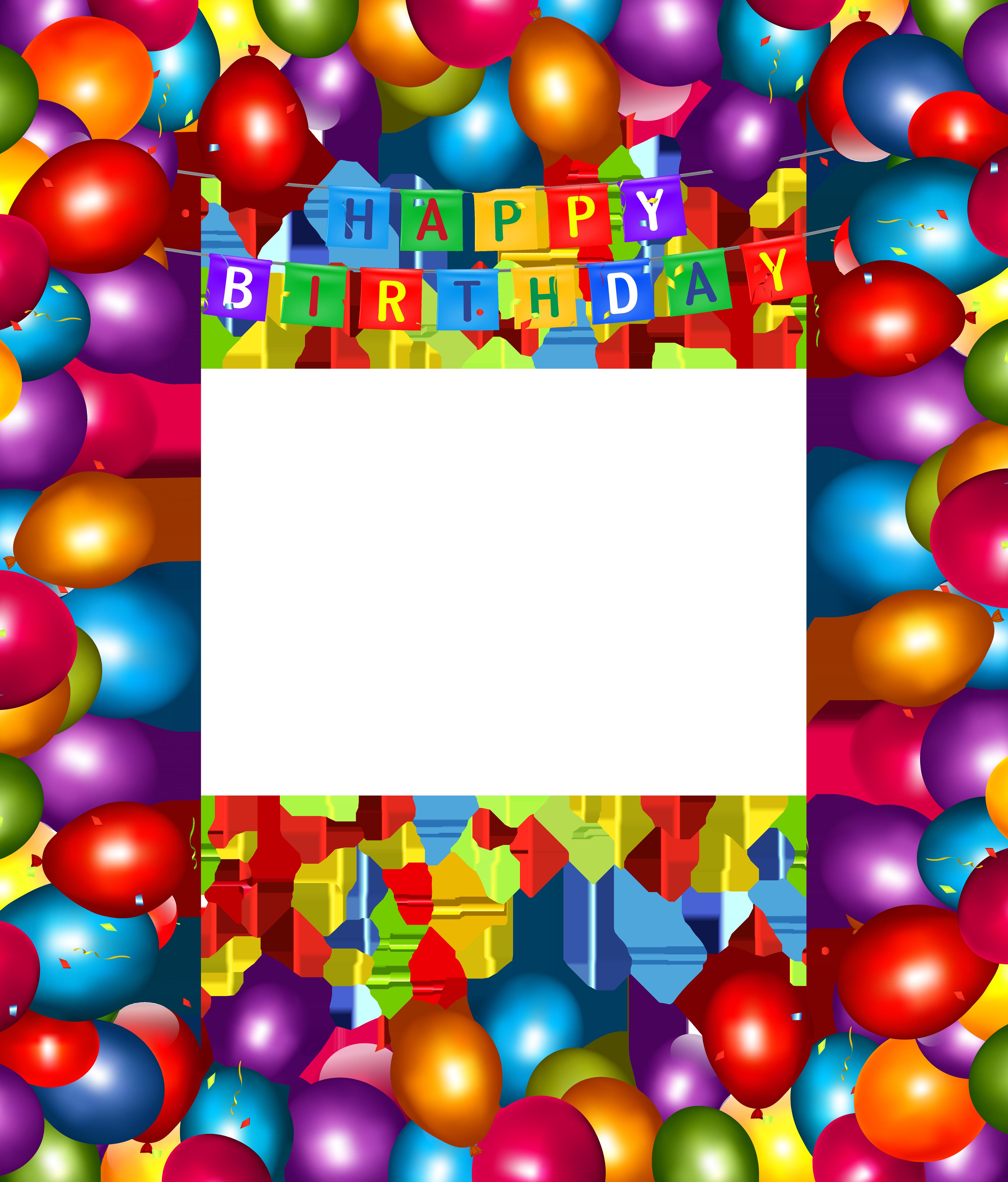 4265x5000 Happy Birthday Transparent Balloons Png Frameu200b Gallery
