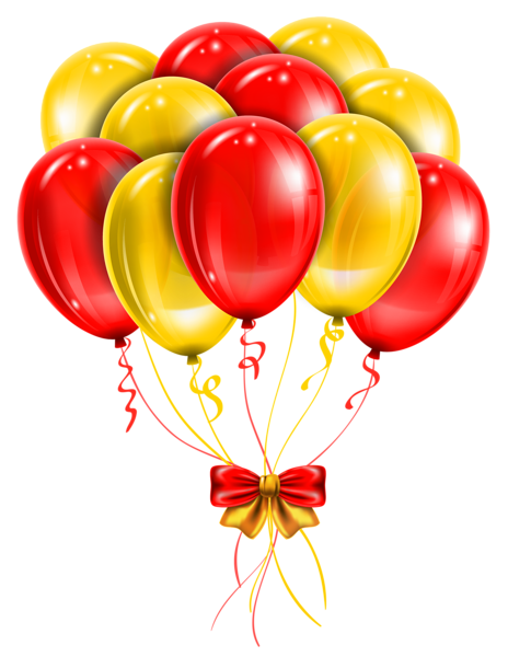 464x600 New Year Balloons Red Blue Green Yellow Clipart Collection