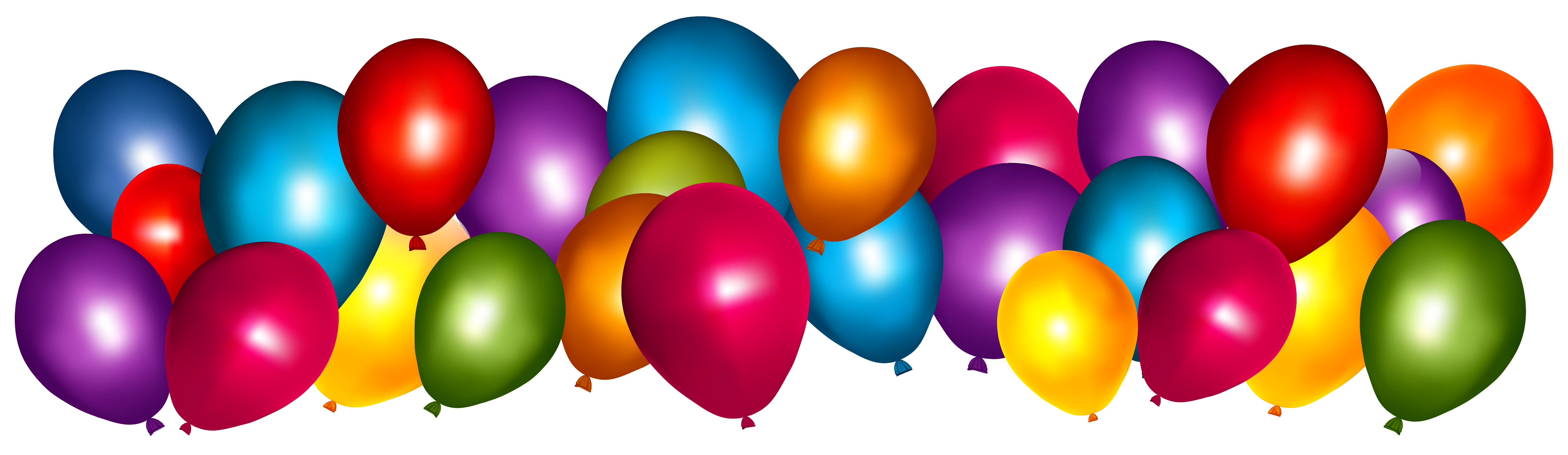 6152x1785 Transparent Colorful Balloons Png Clipart Imageu200b Gallery