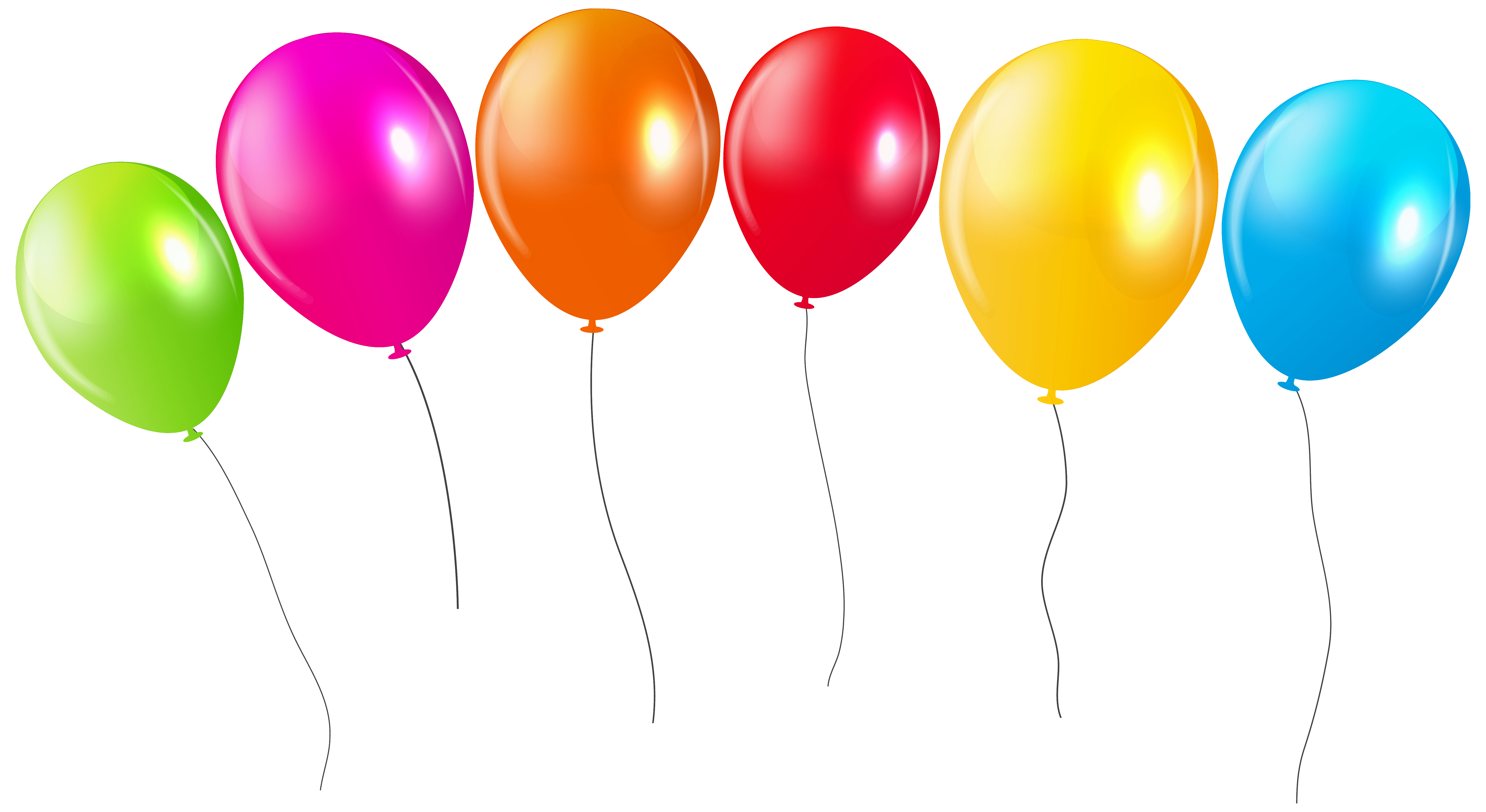 6280x3435 Transparent Colorful Balloons Png Cliparu200b Gallery Yopriceville