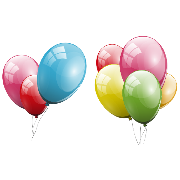 600x600 Backgrounds For Birthday Balloons Transparent Background Www