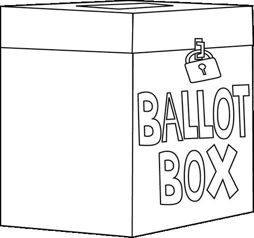 500x469 Black And White Ballot Box Clip Art