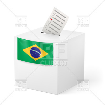 400x400 Election In Brazil Ballot Box With Voting Paper Royalty Free
