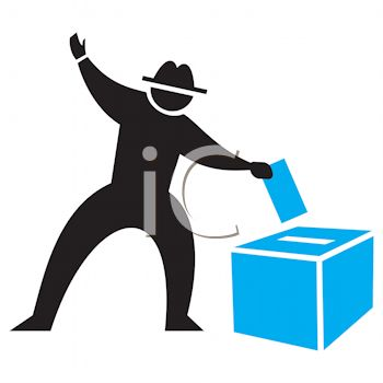 350x350 Silhouette Of A Man Casting A Ballot Icon