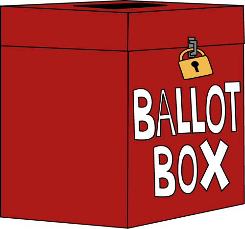 500x469 Voting Ballot Box Clip Art