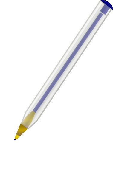 378x594 Blue Ballpoint Pen Clip Art