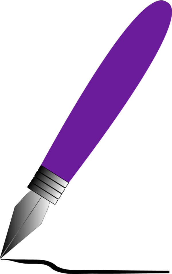 600x954 Feather pen clip art