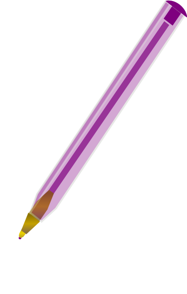 378x594 Purple Ballpoint Pen Clip Art