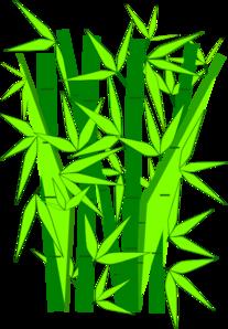 207x298 Bamboo Green Clip Art