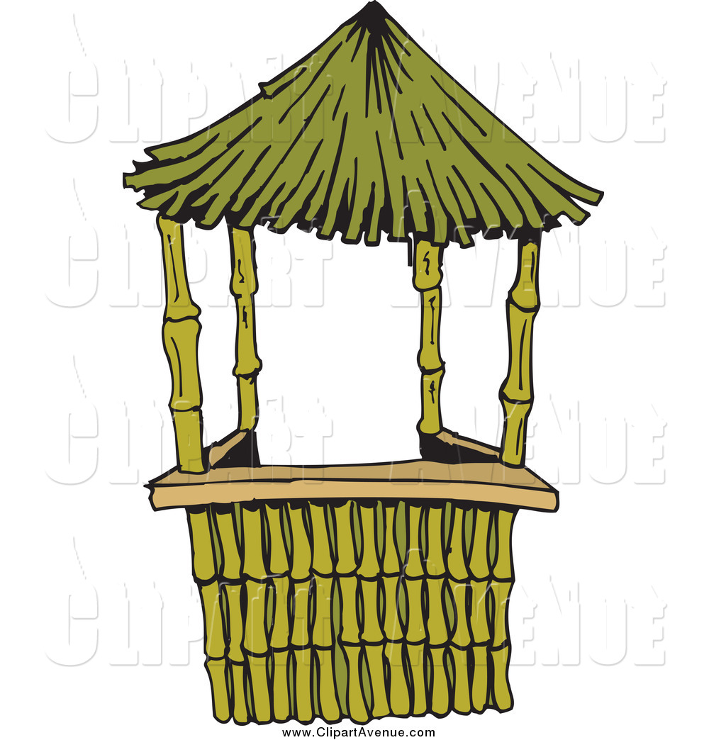 1024x1044 Avenue Clipart Of A Bamboo Straw Hut By Dennis Holmes Designs