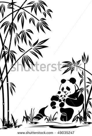 318x470 Clip Art Panda With Bamboo A Bubble Clipart