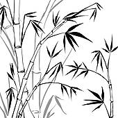 170x170 Clip Art Of Bamboo K13418209