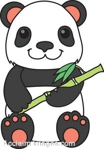 211x300 Clipart Picture Of A Panda Bear With Bamboo Stock