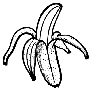 Banana Black And White