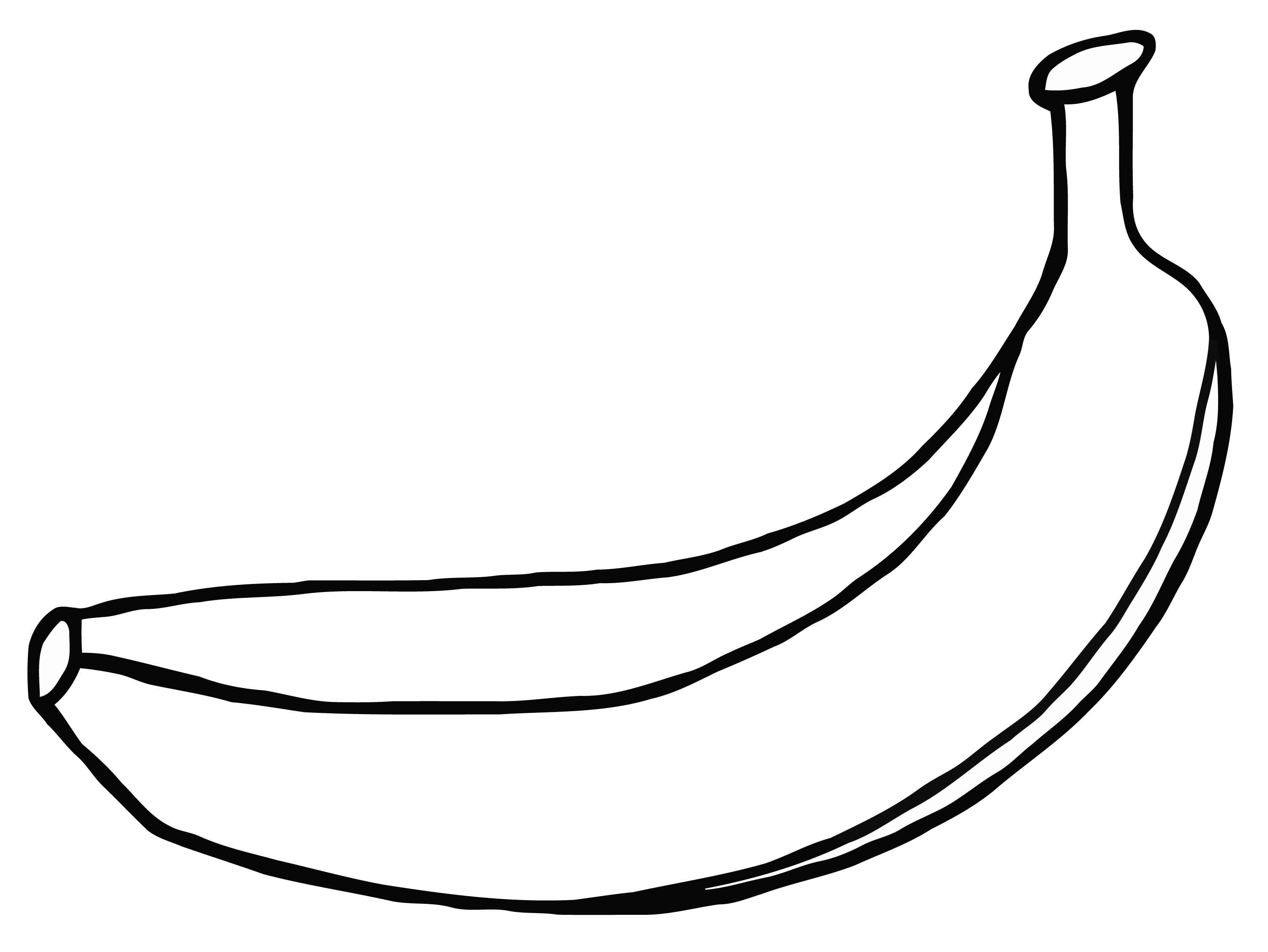 Banana black and white. Free download best